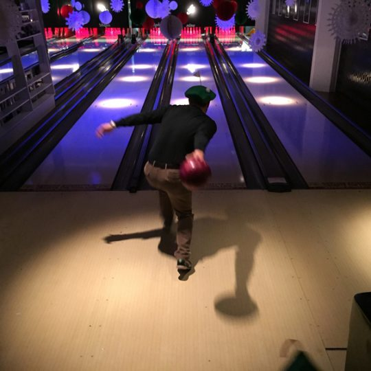 LOM Christmas party scores a perfect strike