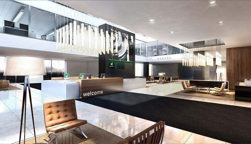 King Abdullah Economic City reception area