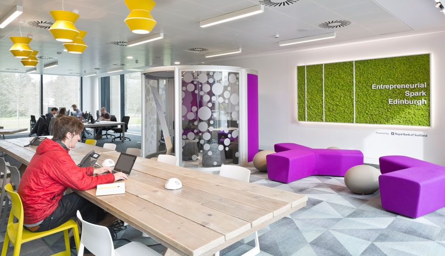 Entrepreneurial Spark incubator interior