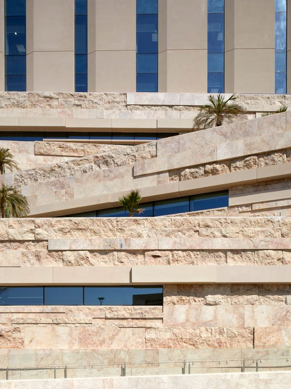 LOM architecture and design National Bank of Oman HQ Omani stone