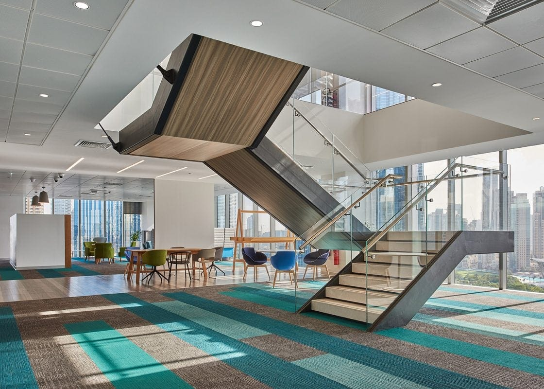 HSBC Middle East staircase