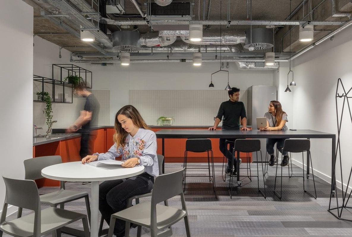 Tech developer workspace kitchen