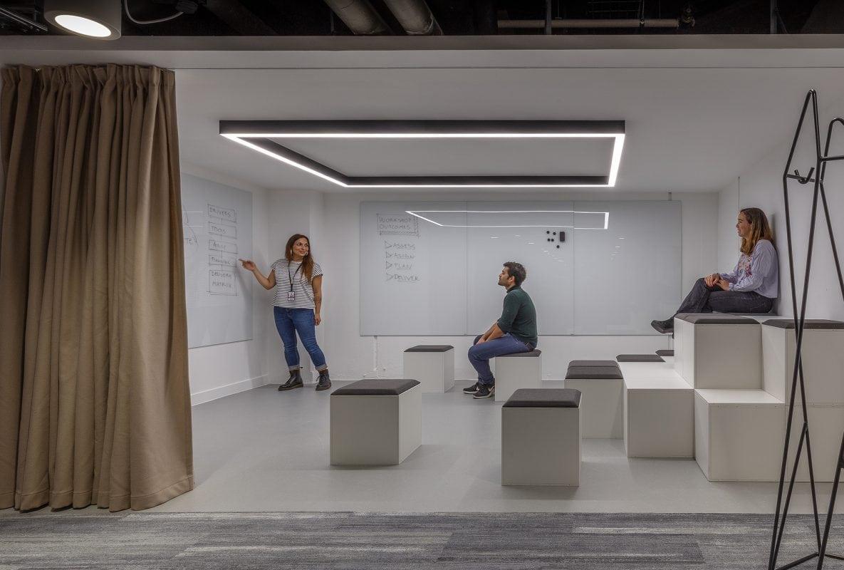 The Bunker workspace presentation area